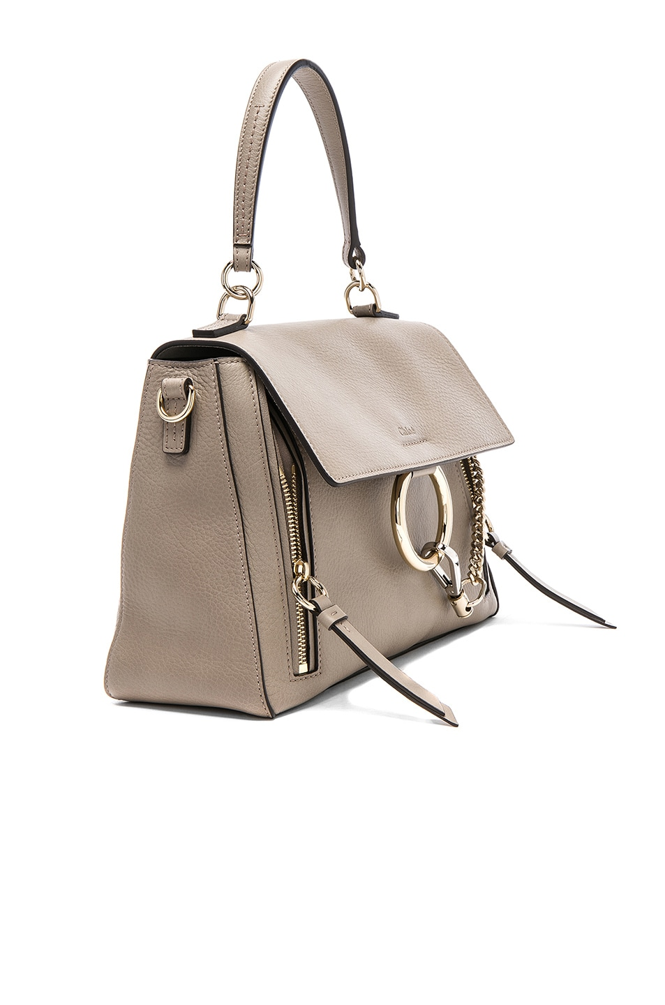 Image 4 of Chloe Small Faye Day Bag Calfskin & Suede in Motty Grey