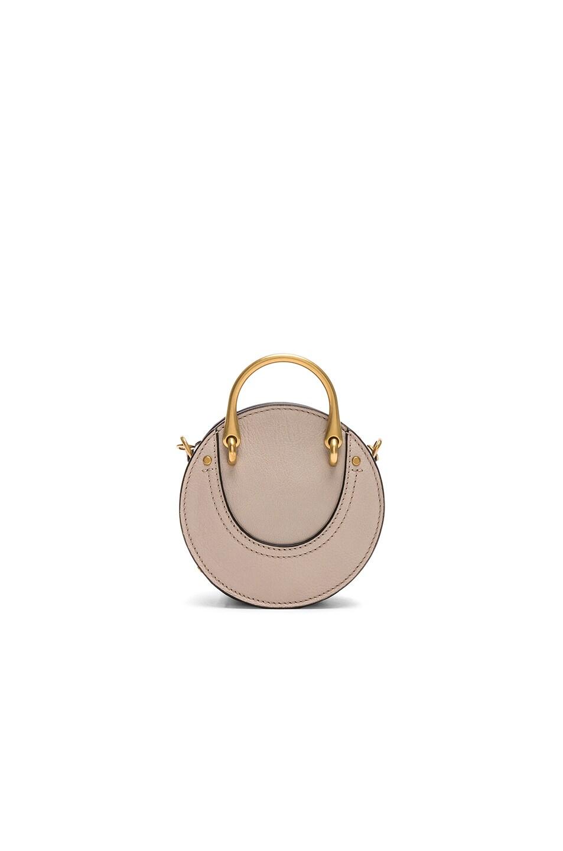 Image 2 of Chloe Mini Pixie Shiny Goatskin, Calfskin & Suede Double Handle Bag in Pastel Grey