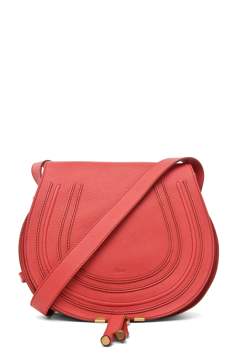 Image 1 of Chloe PINK PARTY EXCLUSIVE Medium Marcie Satchel in Paradise Pink