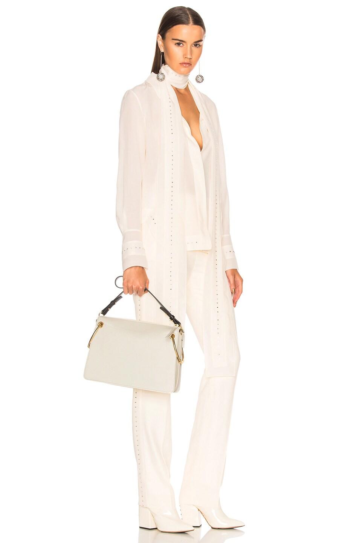 Image 2 of Chloe Medium Roy Calfskin & Suede Shoulder Bag in Natural White