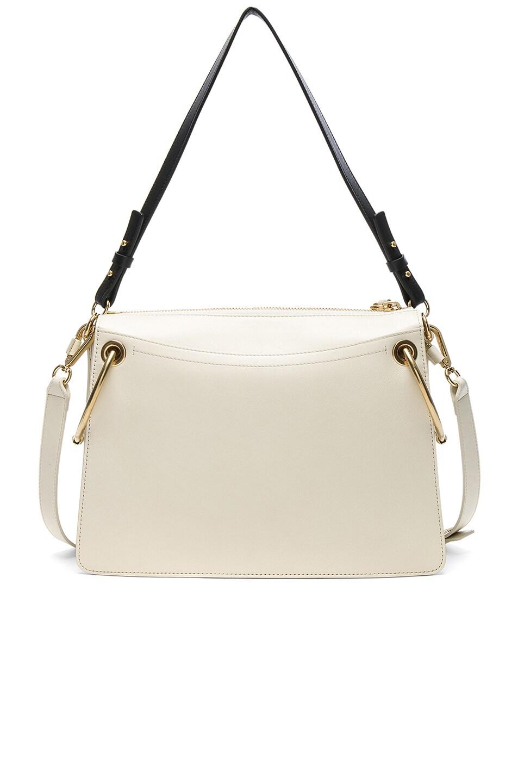 Image 3 of Chloe Medium Roy Calfskin & Suede Shoulder Bag in Natural White