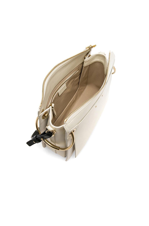 Image 5 of Chloe Medium Roy Calfskin & Suede Shoulder Bag in Natural White