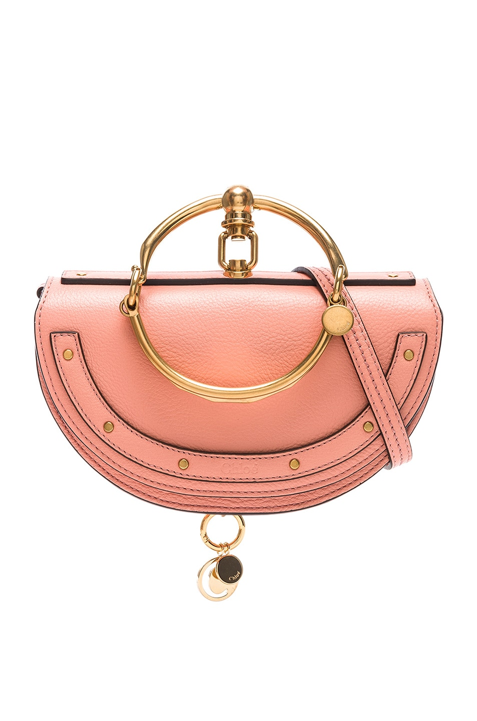 Image 1 of Chloe Small Nile Leather Minaudiere in Ideal Blush
