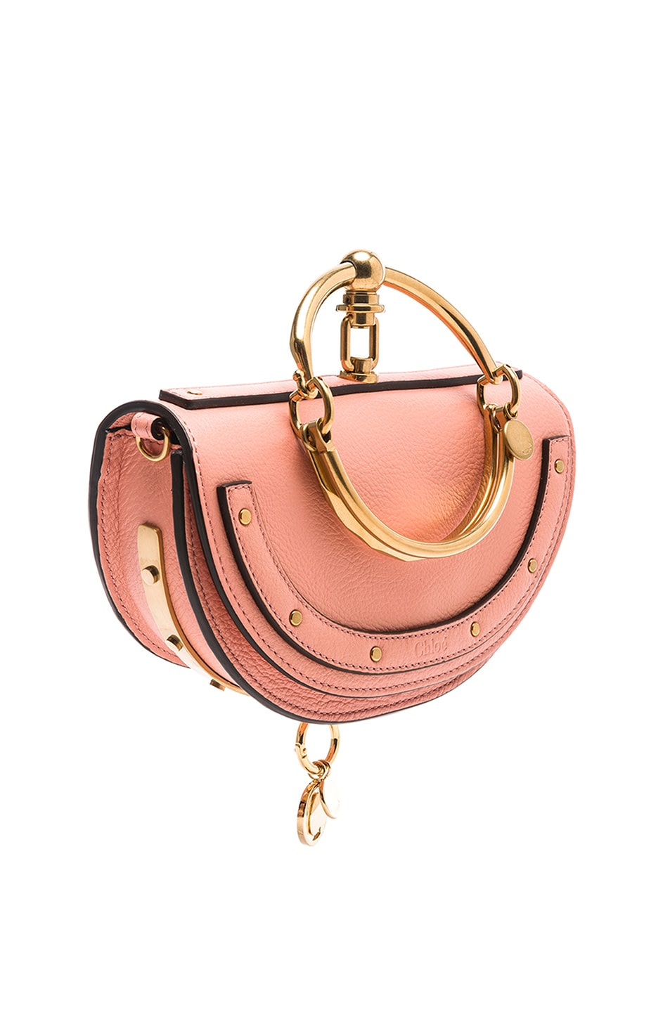 Image 4 of Chloe Small Nile Leather Minaudiere in Ideal Blush