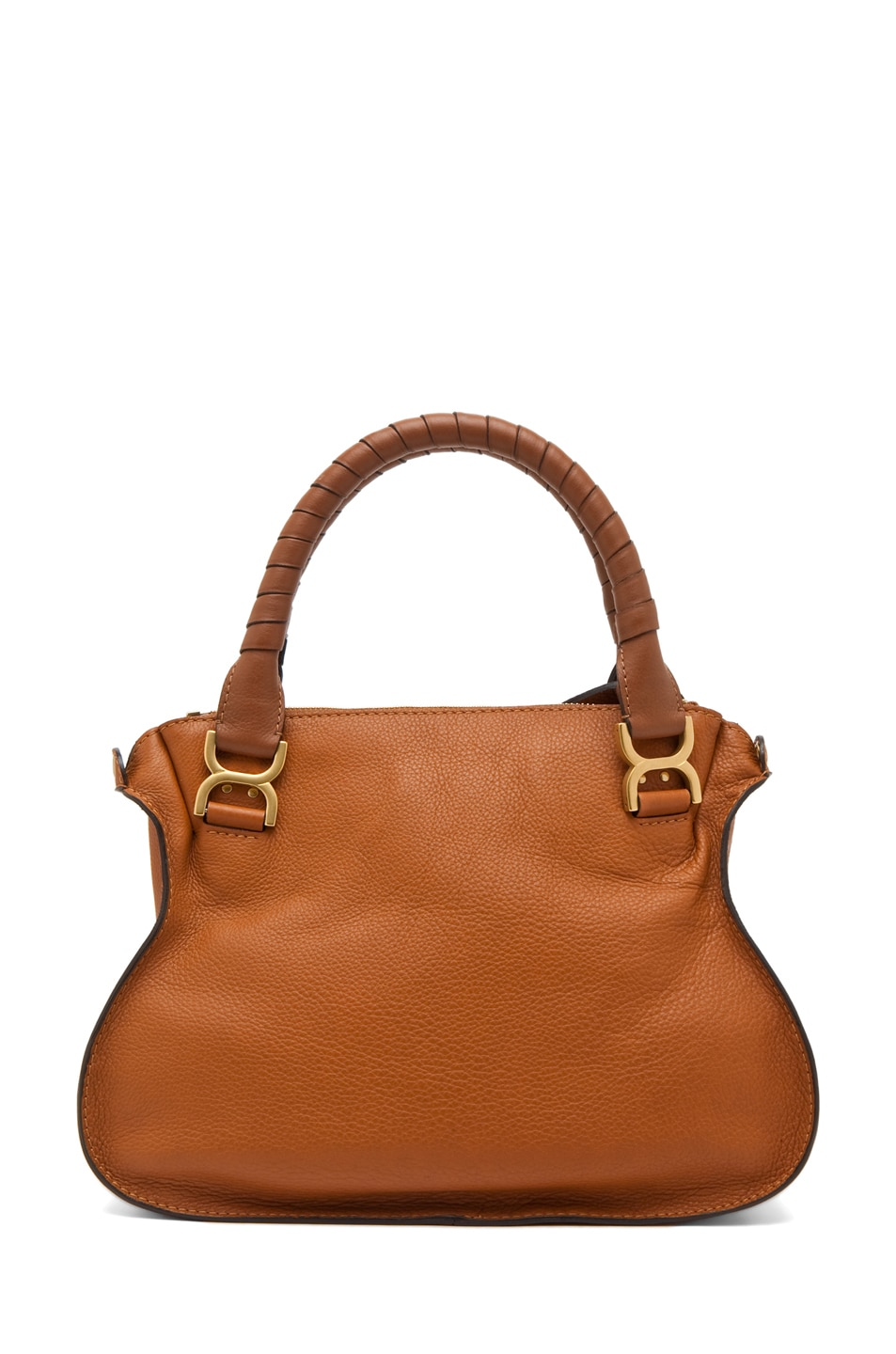 Image 2 of Chloe Small Marcie Shoulder Bag in Tan