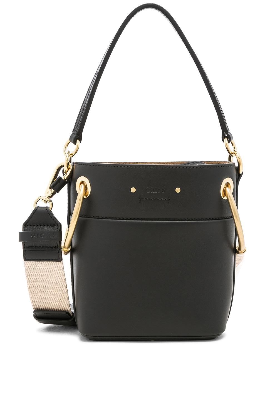 Image 1 of Chloe Mini Roy Calfskin Bucket Bag in Black