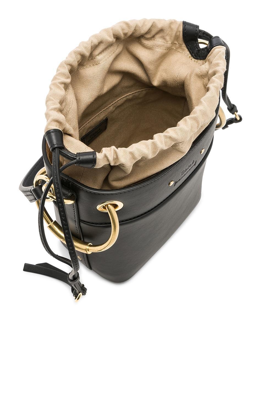 Image 5 of Chloe Mini Roy Calfskin Bucket Bag in Black