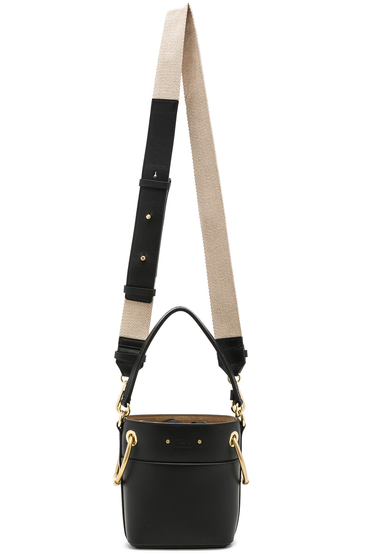 Image 6 of Chloe Mini Roy Calfskin Bucket Bag in Black