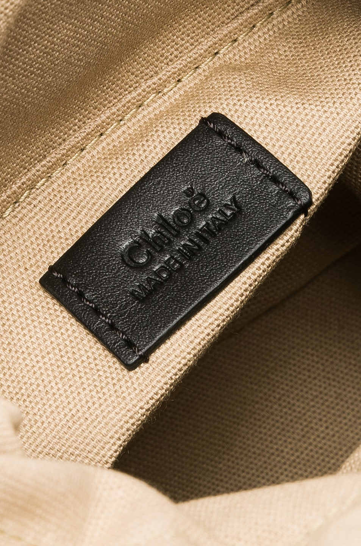 Image 7 of Chloe Mini Roy Calfskin Bucket Bag in Black