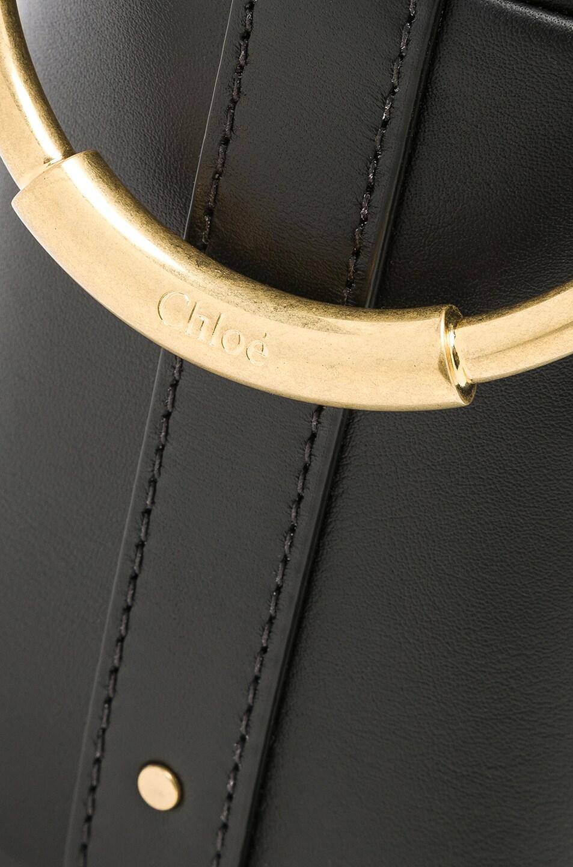 Image 8 of Chloe Mini Roy Calfskin Bucket Bag in Black