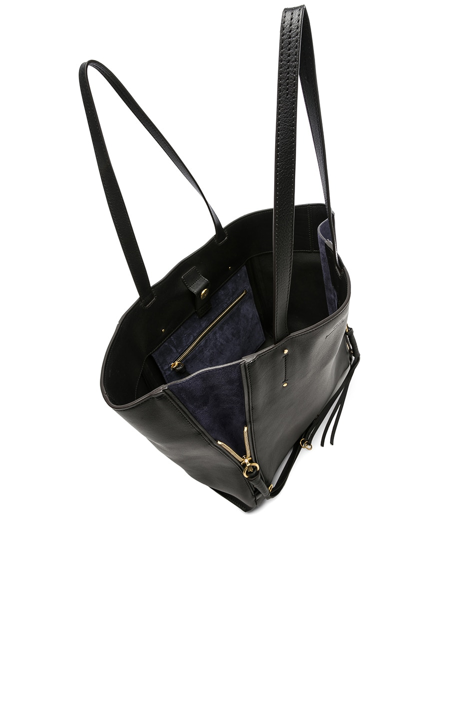 Image 5 of Chloe Medium Milo Suede & Calfskin Tote in Black