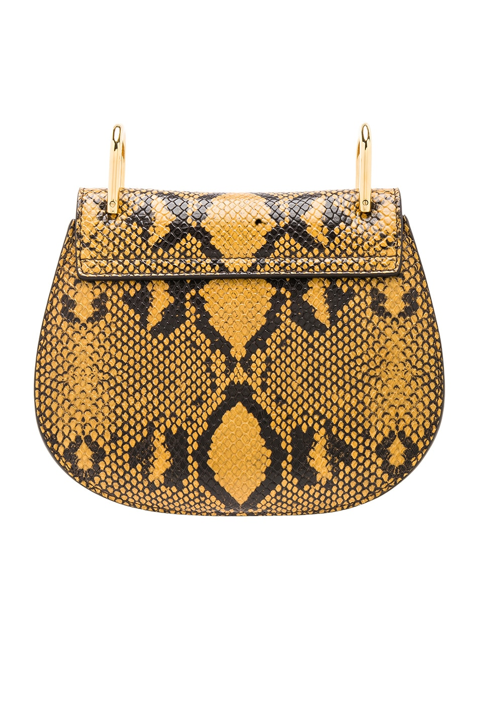 Image 3 of Chloe Mini Drew Bijou Python Print Leather Shoulder Bag in September Sun