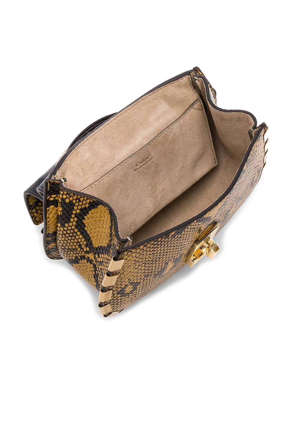 Image 5 of Chloe Mini Drew Bijou Python Print Leather Shoulder Bag in September Sun