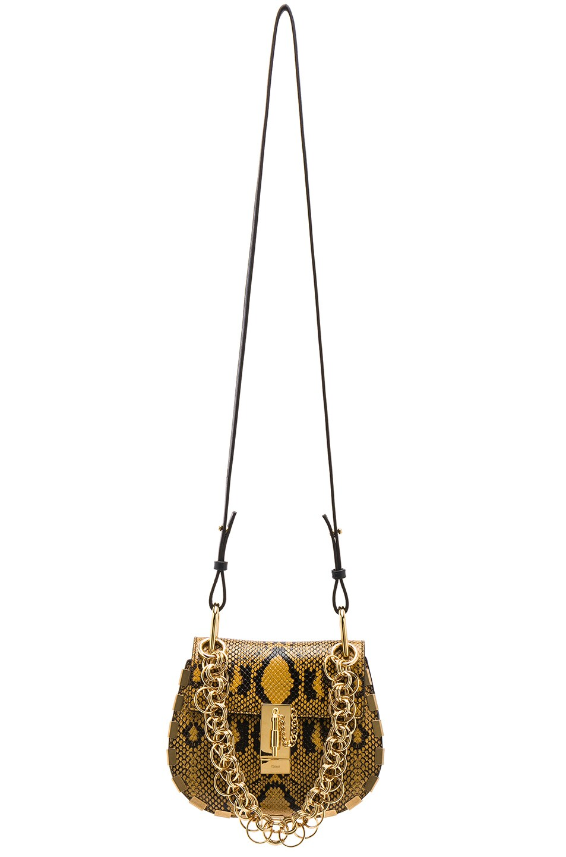 Image 6 of Chloe Mini Drew Bijou Python Print Leather Shoulder Bag in September Sun