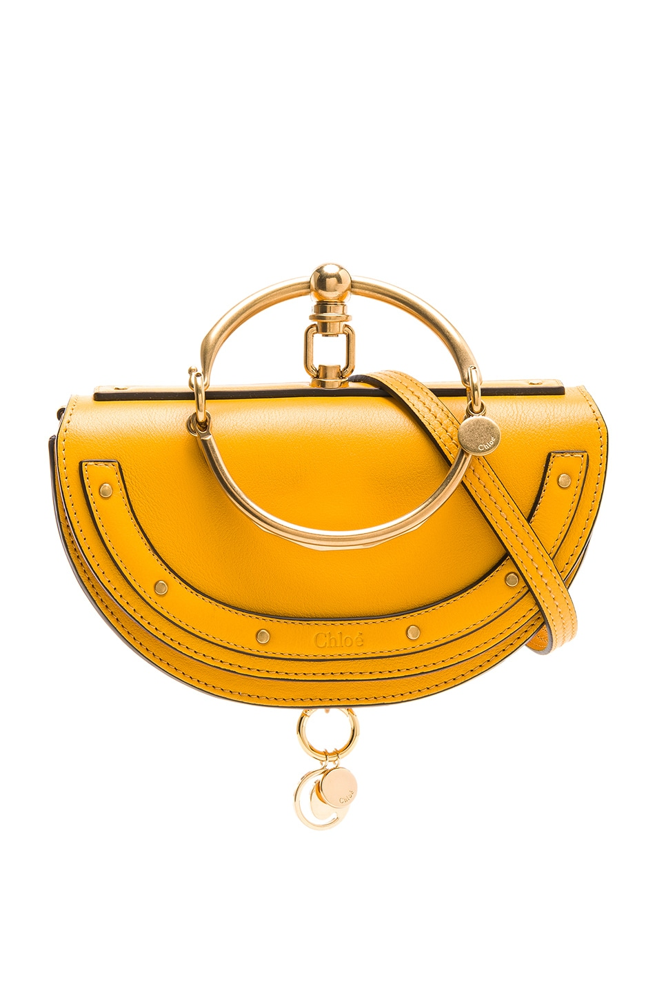 Image 1 of Chloe Small Nile Leather Minaudiere in Dark Ochre