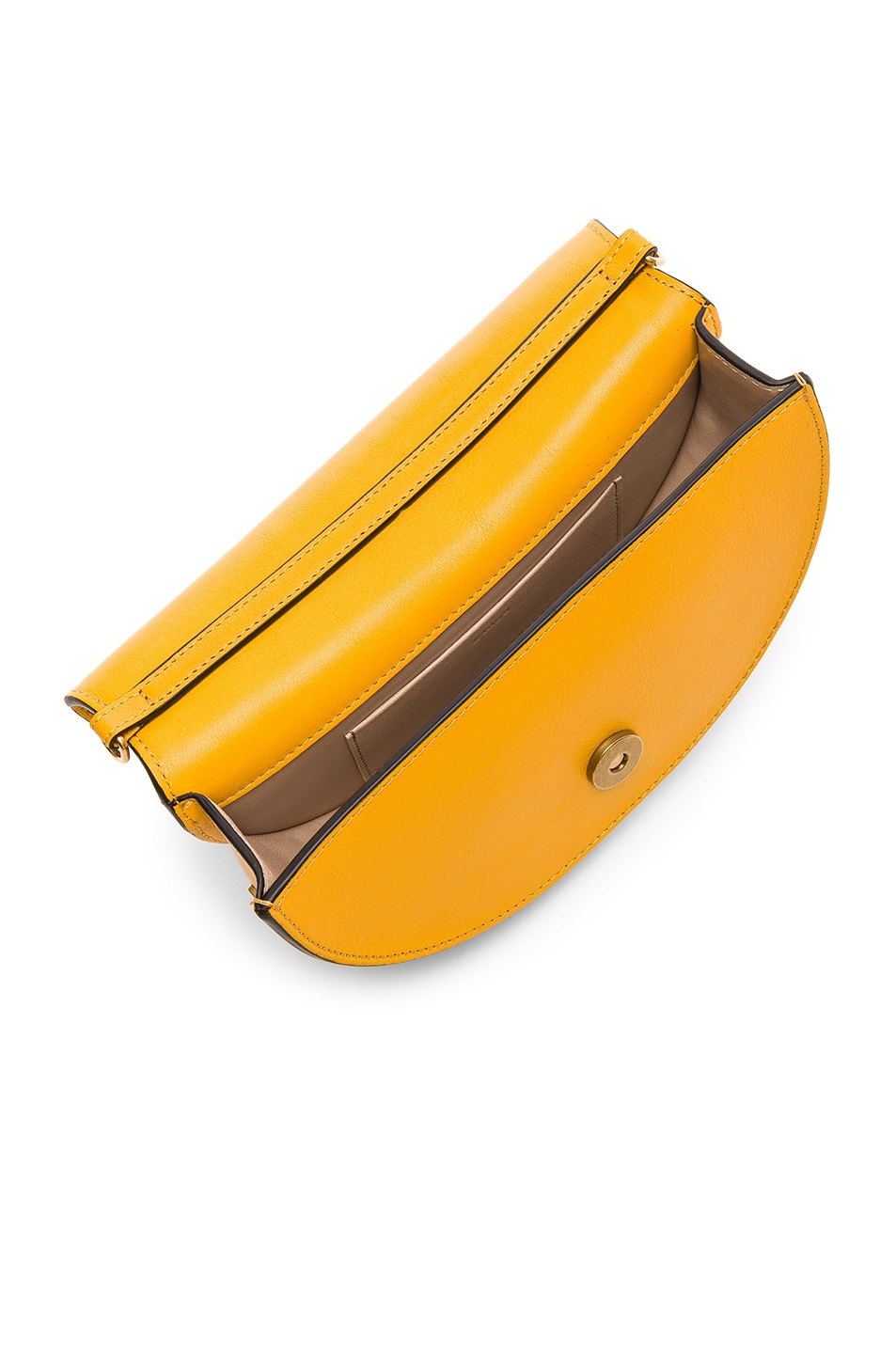 Image 5 of Chloe Small Nile Leather Minaudiere in Dark Ochre