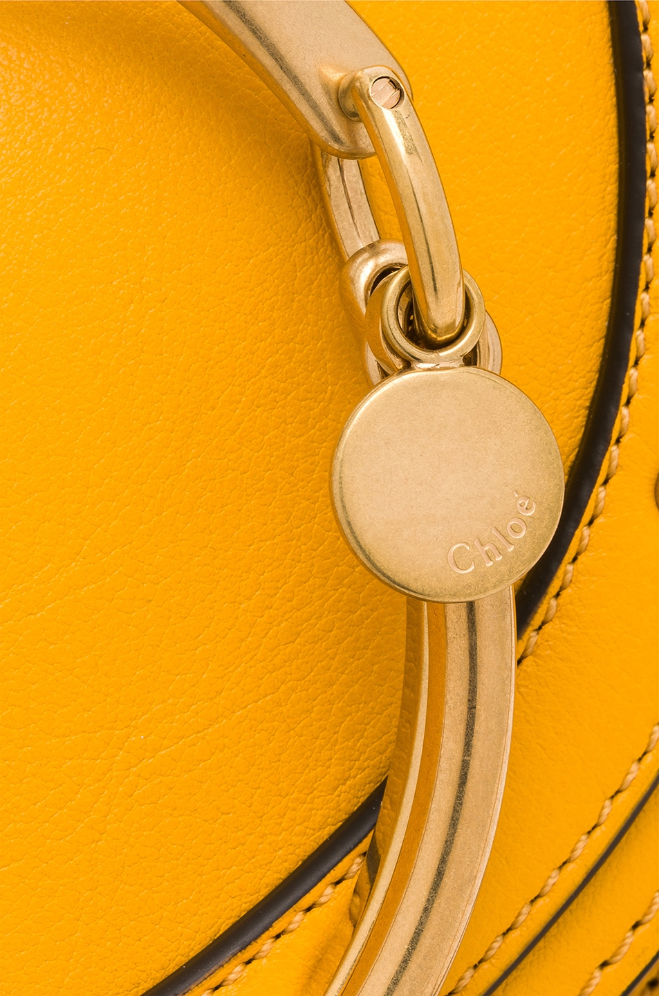 Image 8 of Chloe Small Nile Leather Minaudiere in Dark Ochre