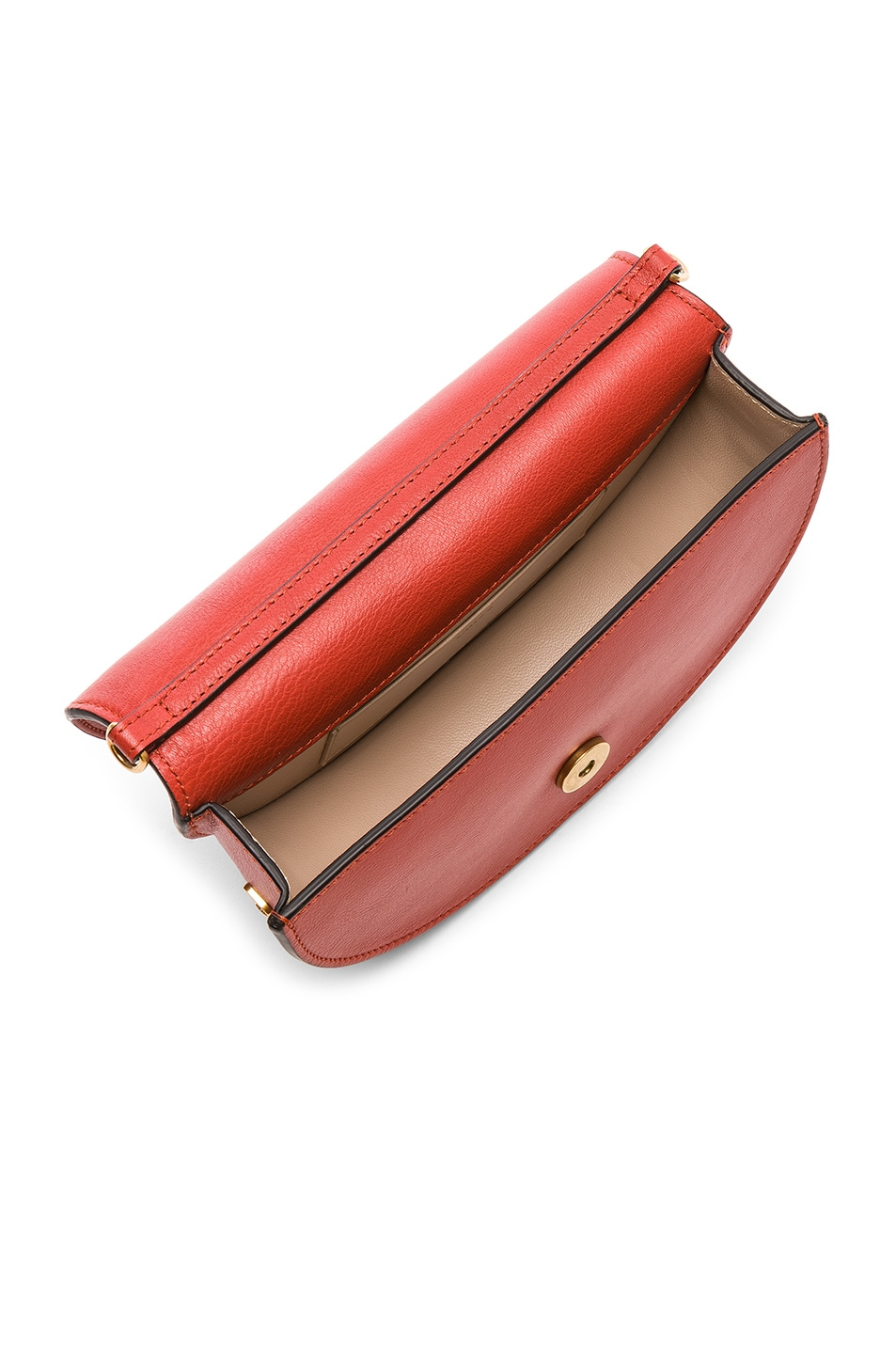 Image 5 of Chloe Small Nile Leather Minaudiere in Earthy Red
