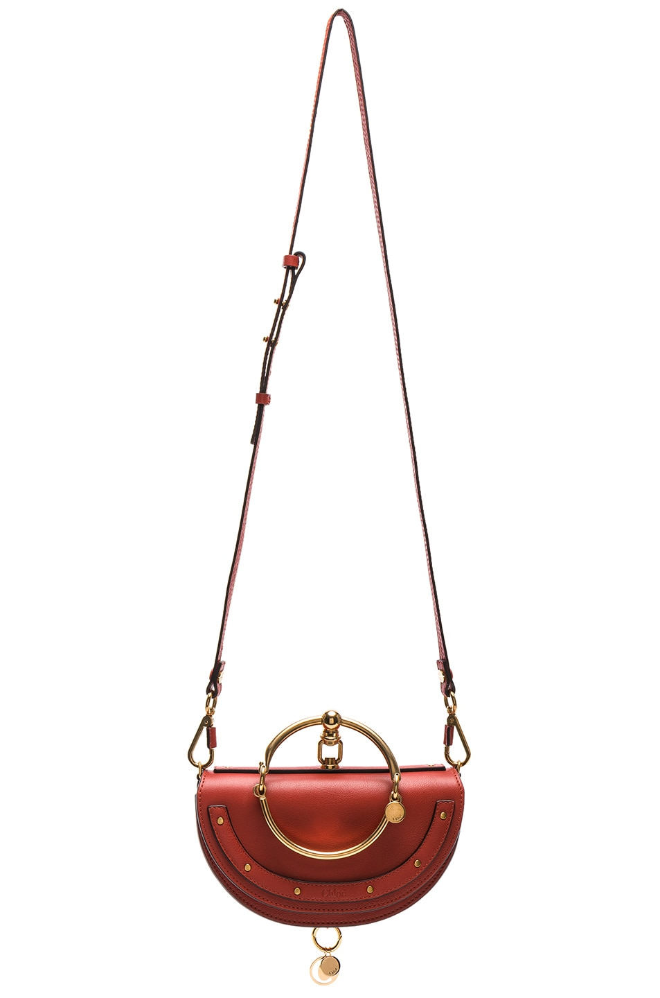 Image 6 of Chloe Small Nile Leather Minaudiere in Earthy Red