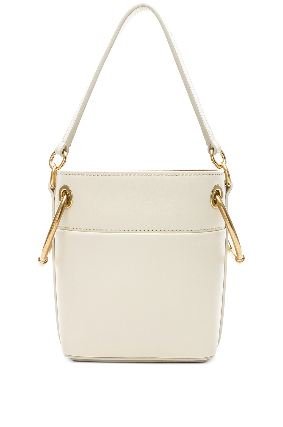 Image 3 of Chloe Mini Roy Calfskin Bucket Bag in Natural White