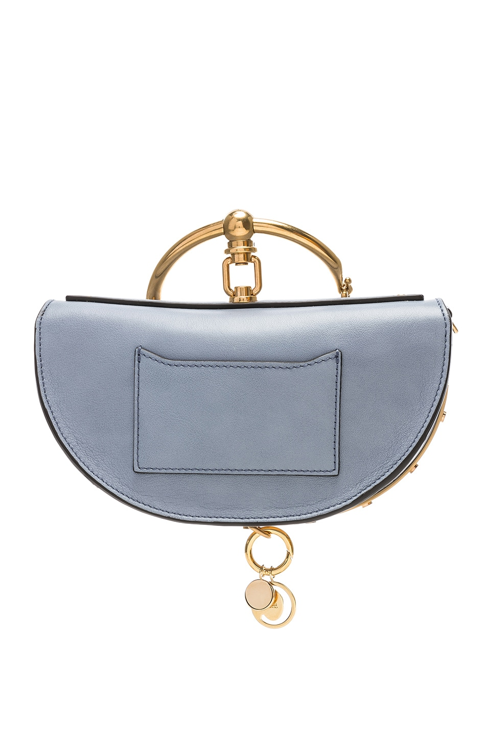 Image 3 of Chloe Small Nile Leather Minaudiere in Washed Blue