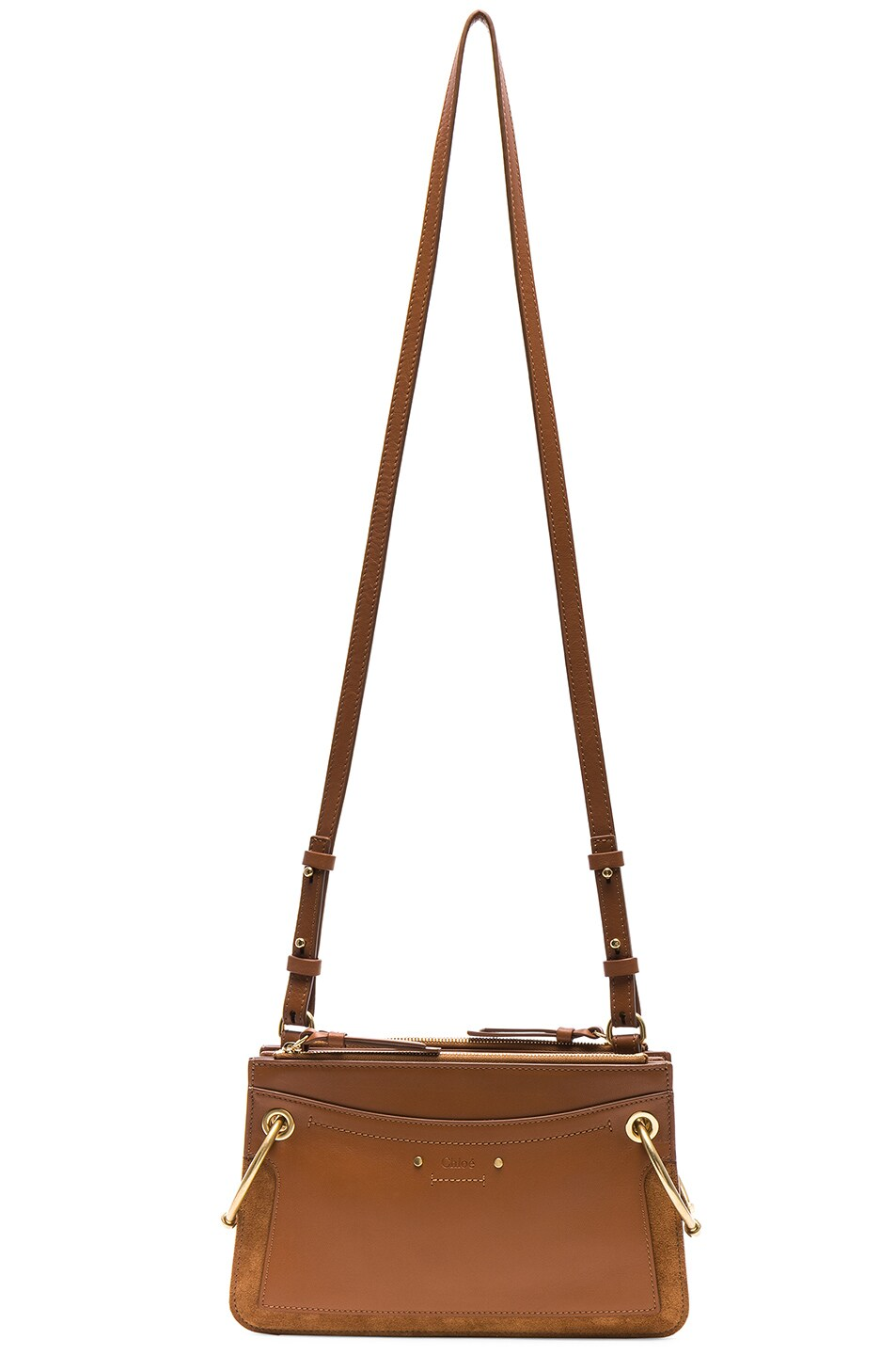 Image 6 of Chloe Mini Roy Calfskin & Suede Shoulder Bag in Caramel