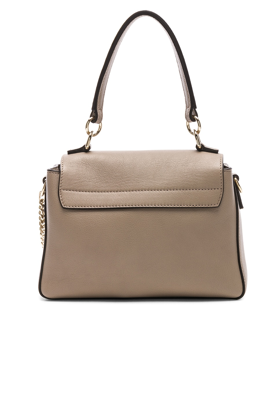 Image 3 of Chloe Mini Faye Calfskin & Suede Day Bag in Motty Grey