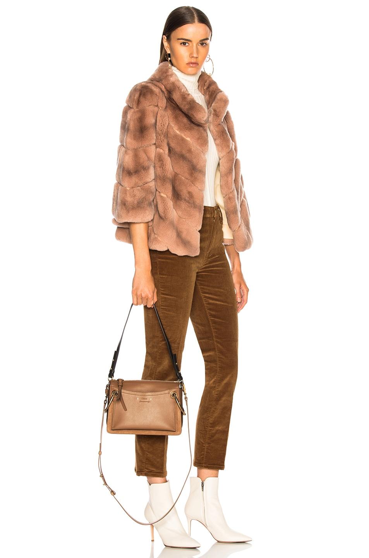 Image 2 of Chloe Small Roy Calfskin & Suede Shoulder Bag in Nut