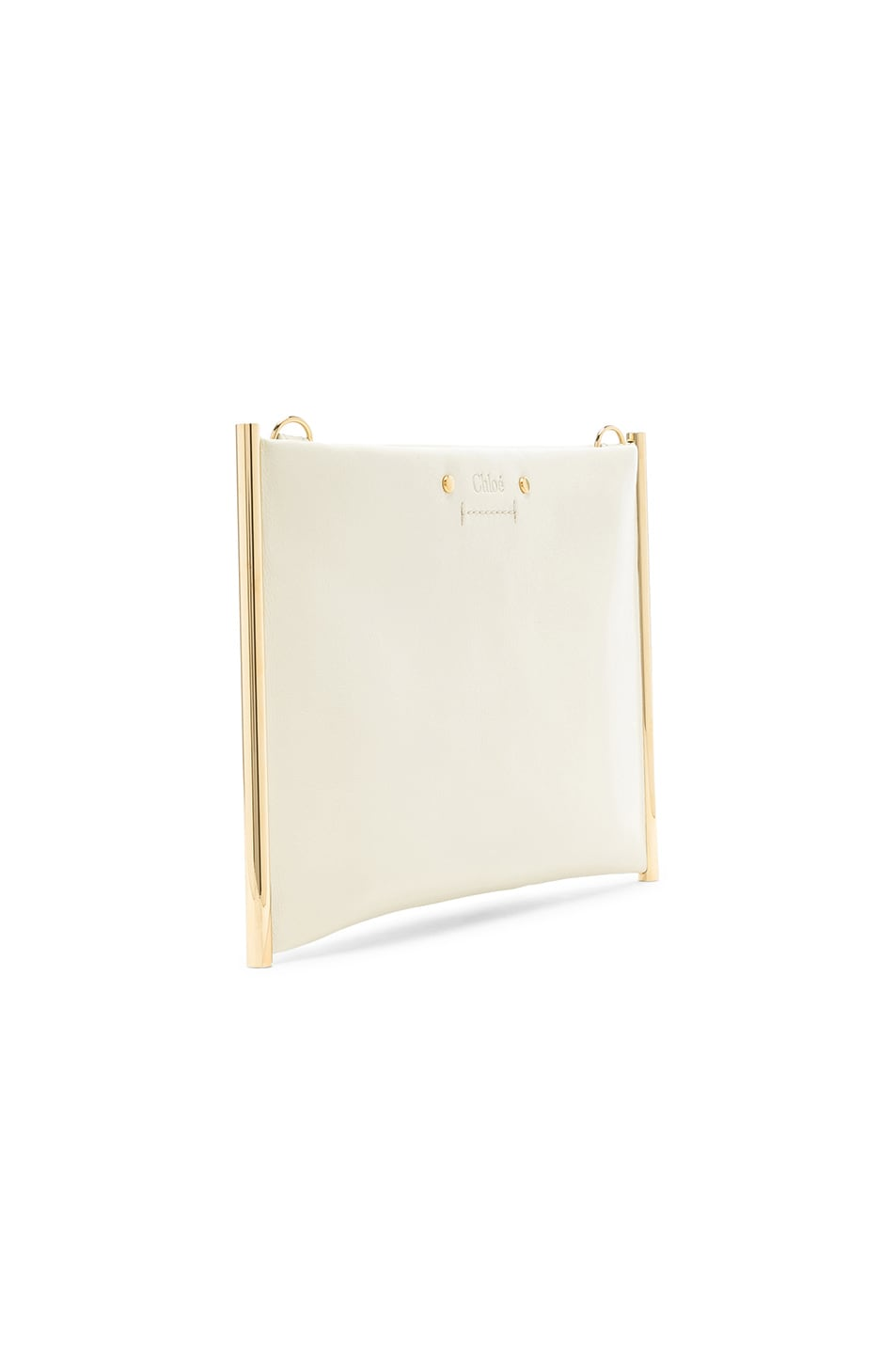 Image 4 of Chloe Roy Smooth Calfskin Clutch in Natural White