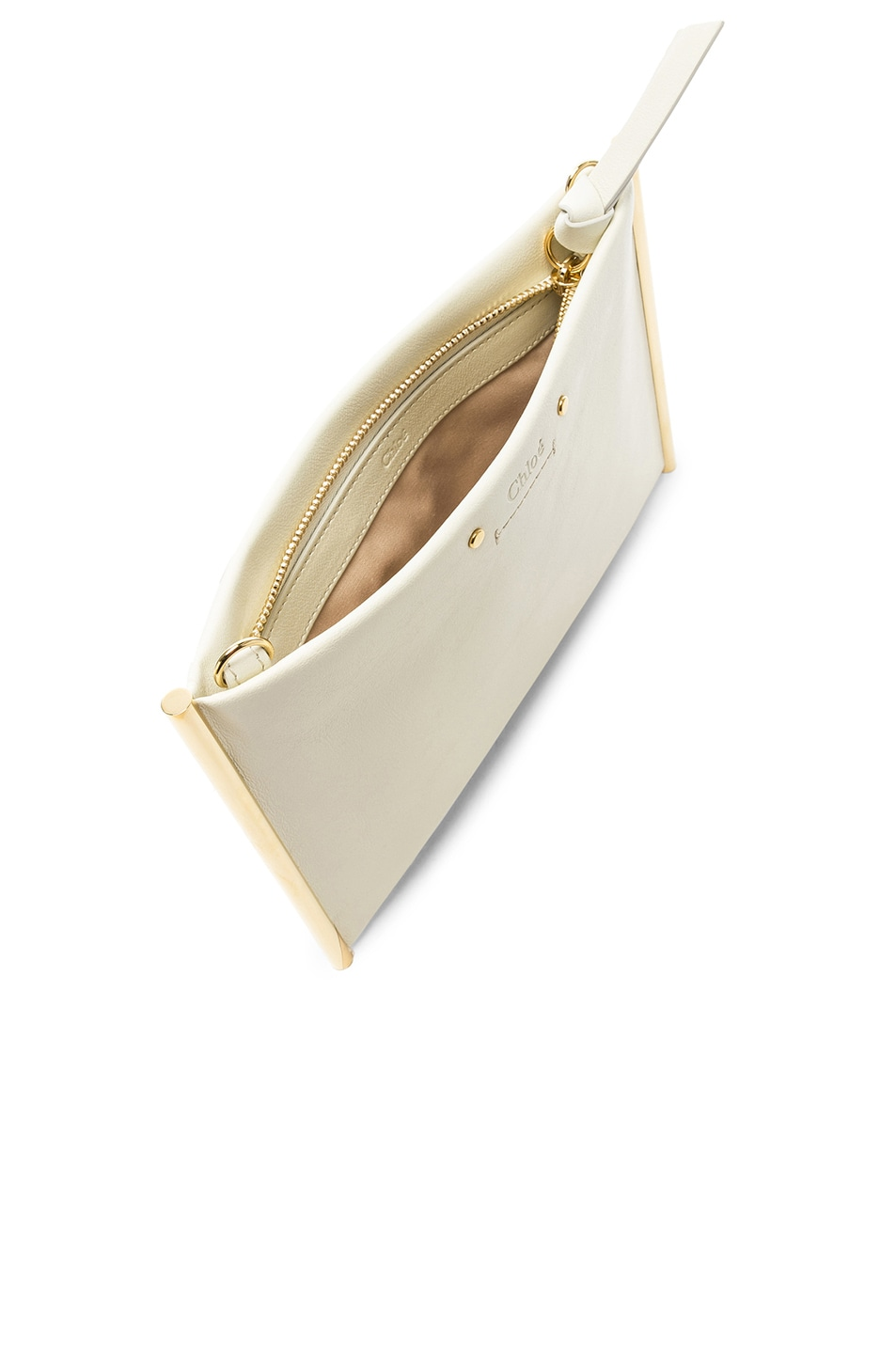 Image 5 of Chloe Roy Smooth Calfskin Clutch in Natural White