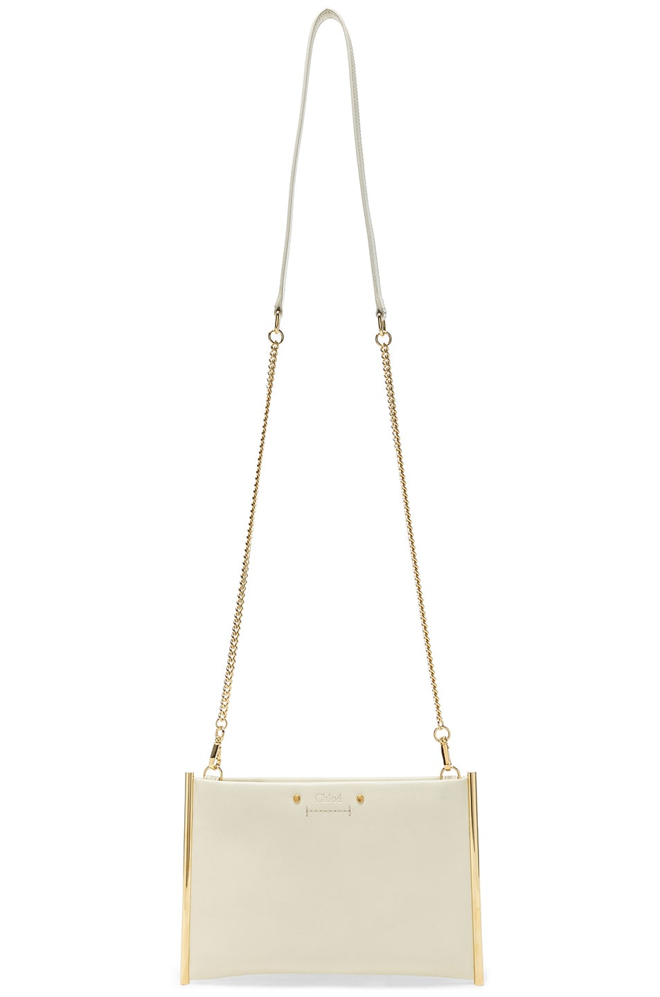 Image 6 of Chloe Roy Smooth Calfskin Clutch in Natural White