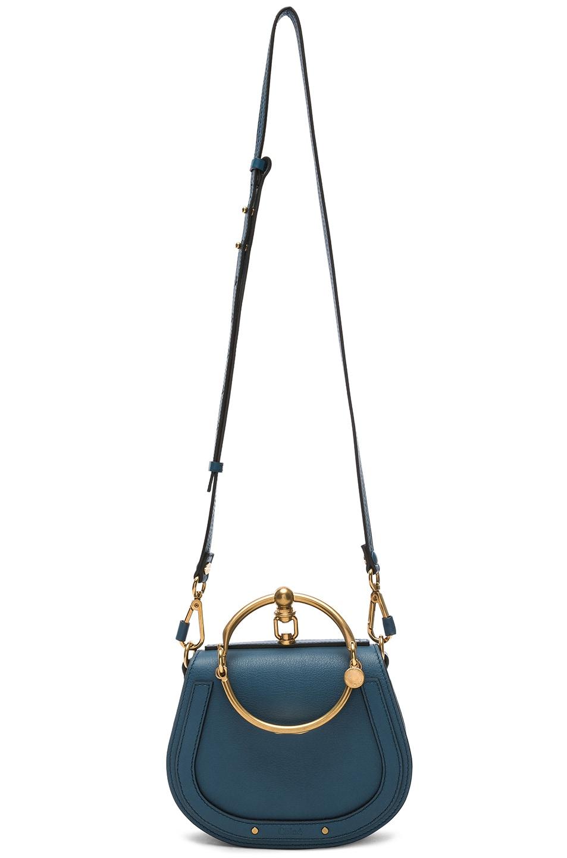 Image 5 of Chloe Small Nile Bracelet Bag Calfskin & Suede in Vinyl Blue