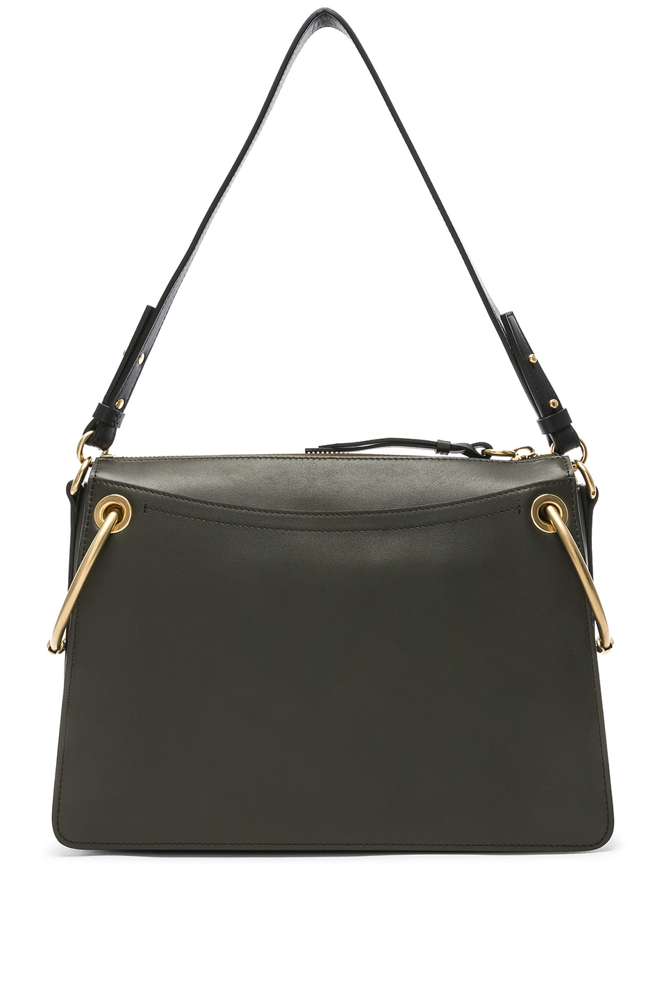 Image 3 of Chloe Medium Roy Calfskin & Suede Shoulder Bag in Deep Forest