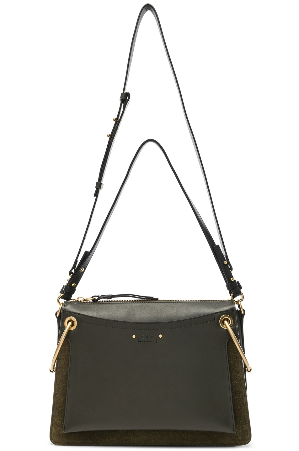 Image 6 of Chloe Medium Roy Calfskin & Suede Shoulder Bag in Deep Forest