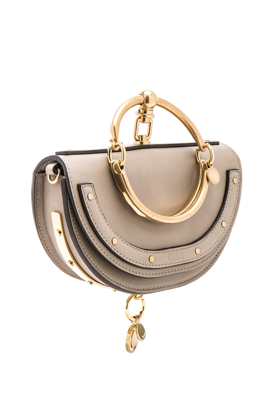 Image 4 of Chloe Small Nile Leather Minaudiere in Motty Grey