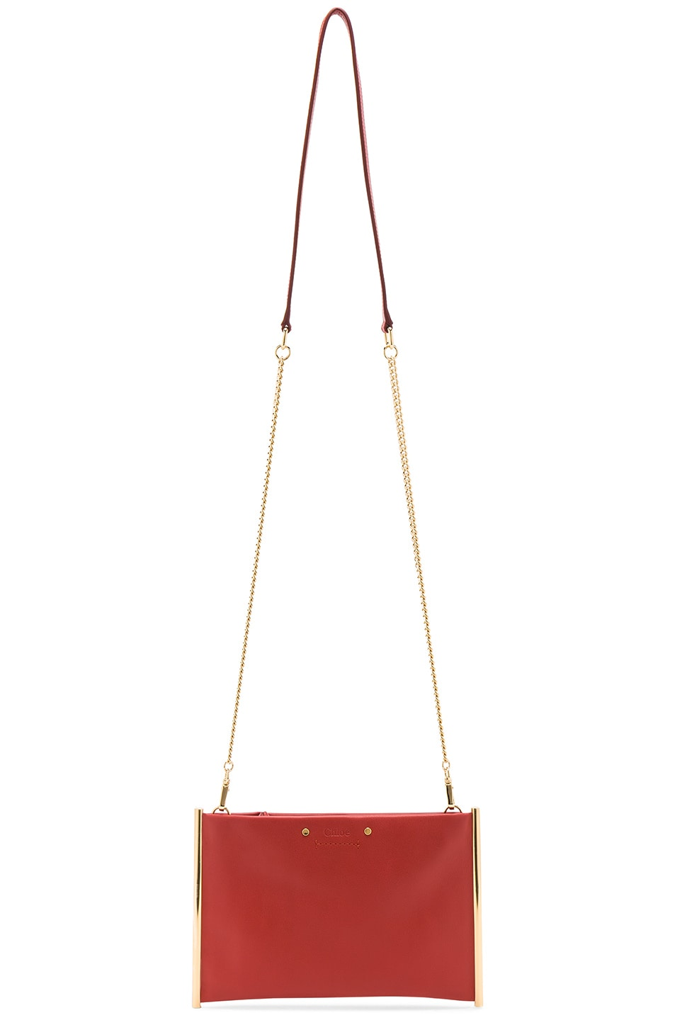 Image 6 of Chloe Roy Smooth Calfskin Clutch in Earthy Red
