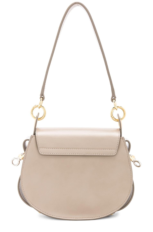 Image 3 of Chloe Small Tess Shiny Calfskin Shoulder Bag in Motty Grey