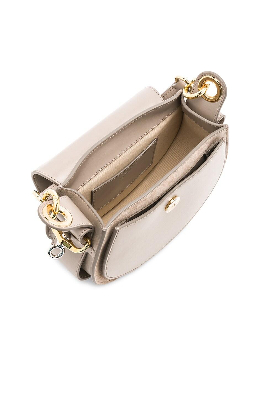 Image 5 of Chloe Small Tess Shiny Calfskin Shoulder Bag in Motty Grey