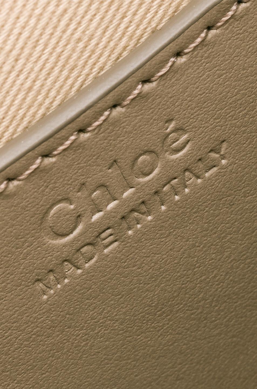 Image 7 of Chloe Small Tess Shiny Calfskin Shoulder Bag in Motty Grey