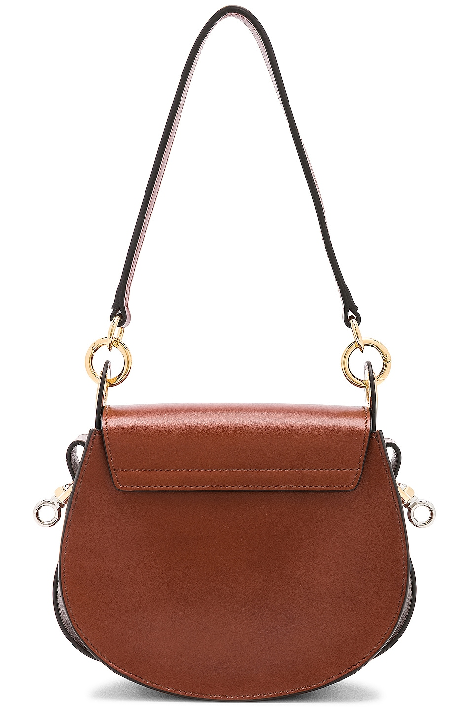 Image 3 of Chloe Small Tess Shiny Calfskin Shoulder Bag in Sepia Brown