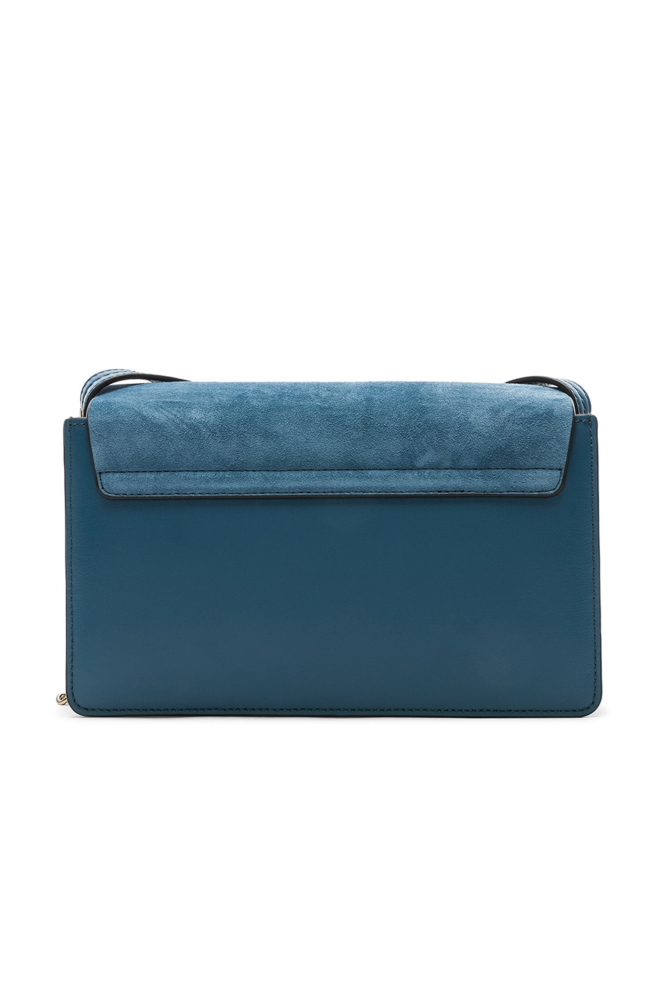 Image 2 of Chloe Small Faye Suede & Calfskin Shoulder Bag in Vinyl Blue