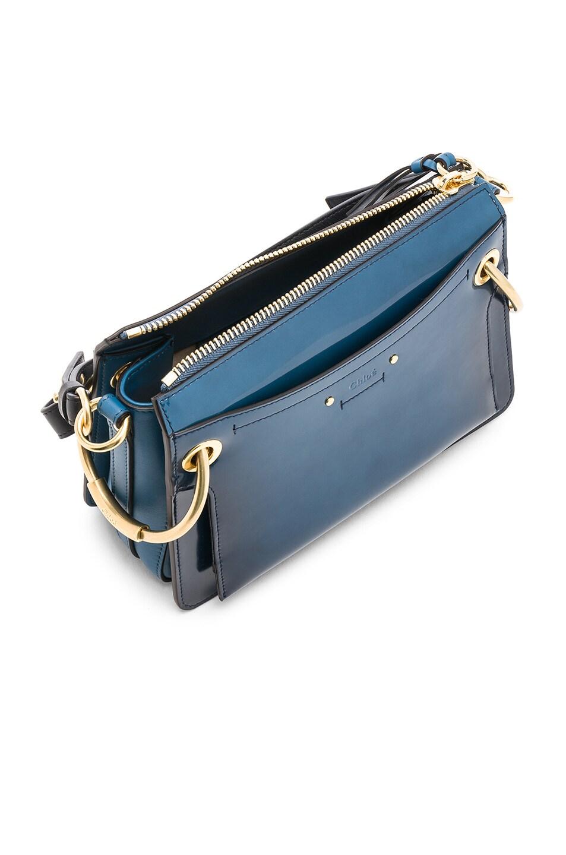 Image 4 of Chloe Small Roy Glossy Lambskin Shoulder Bag in Vinyl Blue
