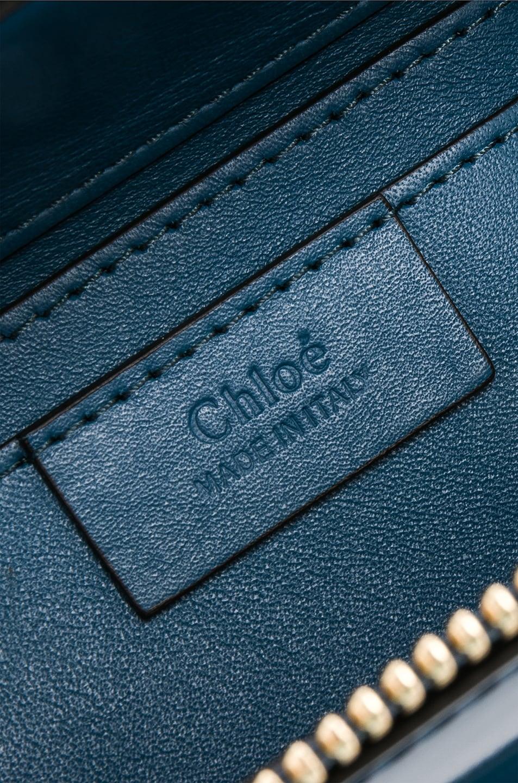 Image 6 of Chloe Small Roy Glossy Lambskin Shoulder Bag in Vinyl Blue