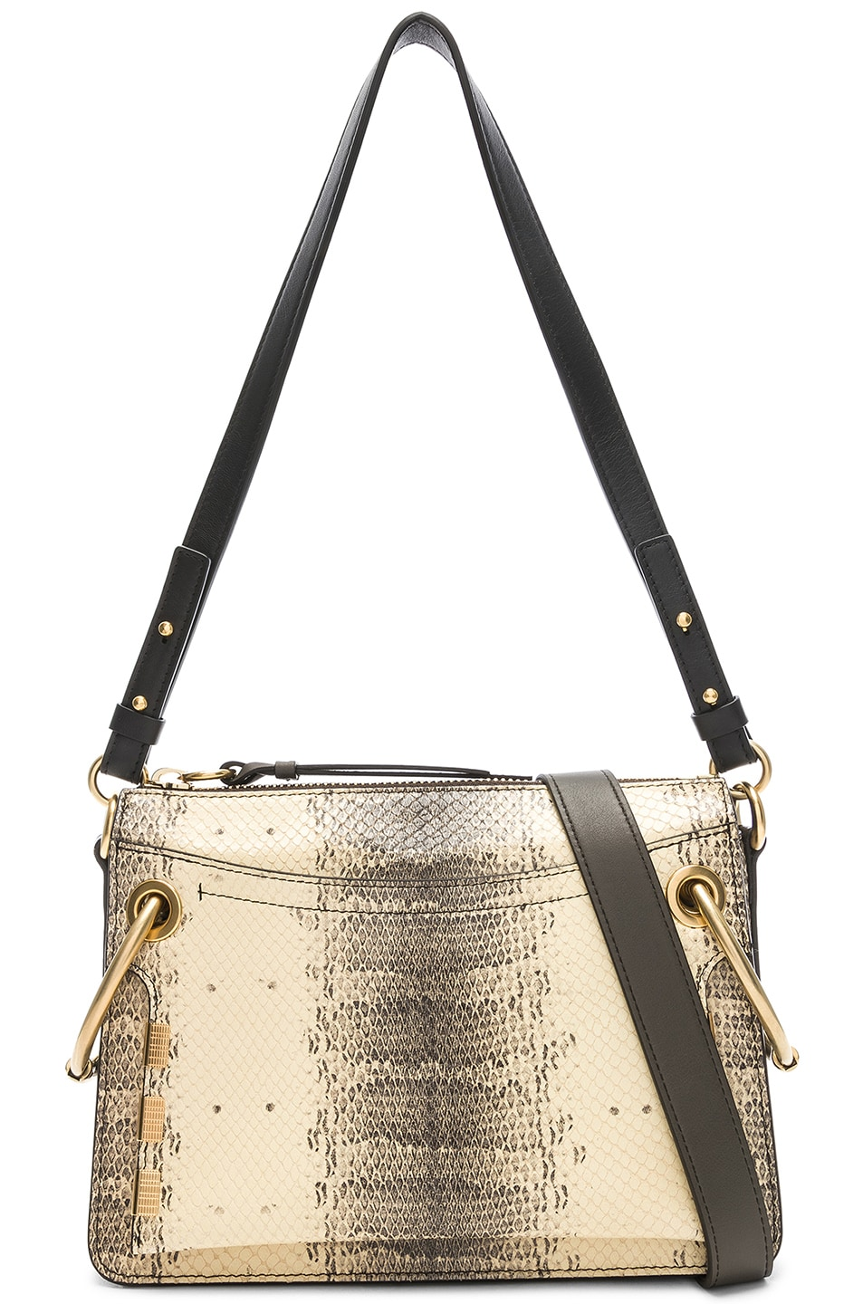 Image 1 of Chloe Small Roy Printed Watersnake Shoulder Bag in Cloudy Yellow
