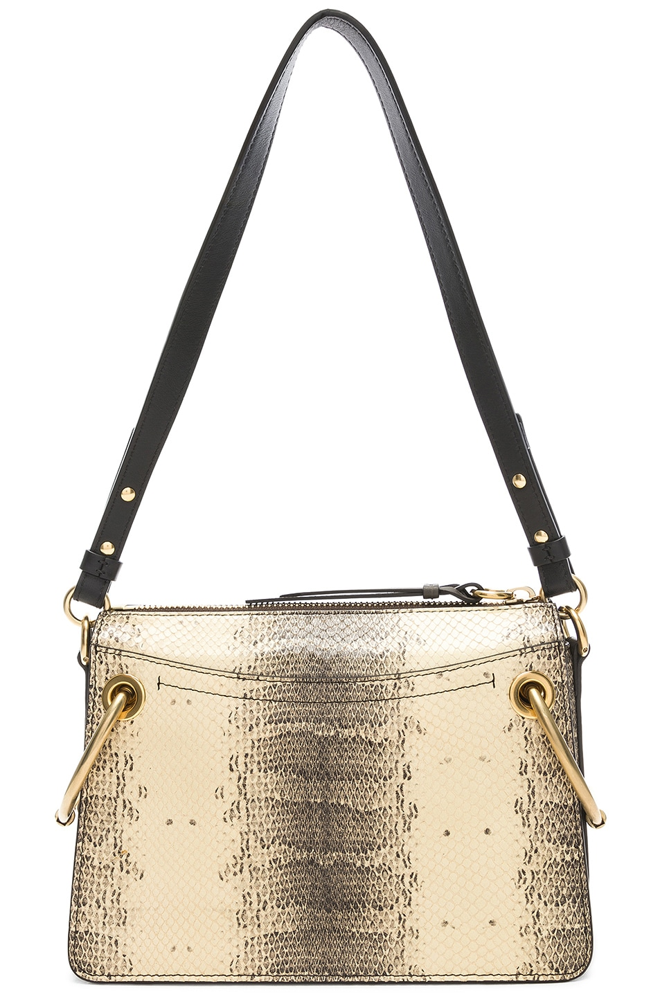 Image 3 of Chloe Small Roy Printed Watersnake Shoulder Bag in Cloudy Yellow