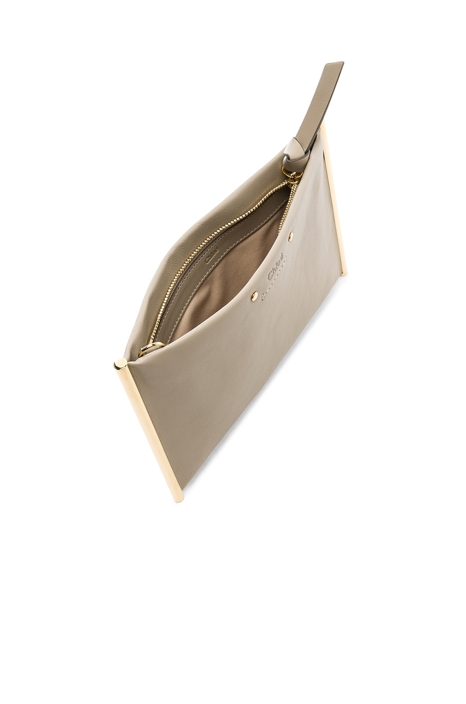 Image 4 of Chloe Roy Smooth Calfskin Clutch in Pastel Grey