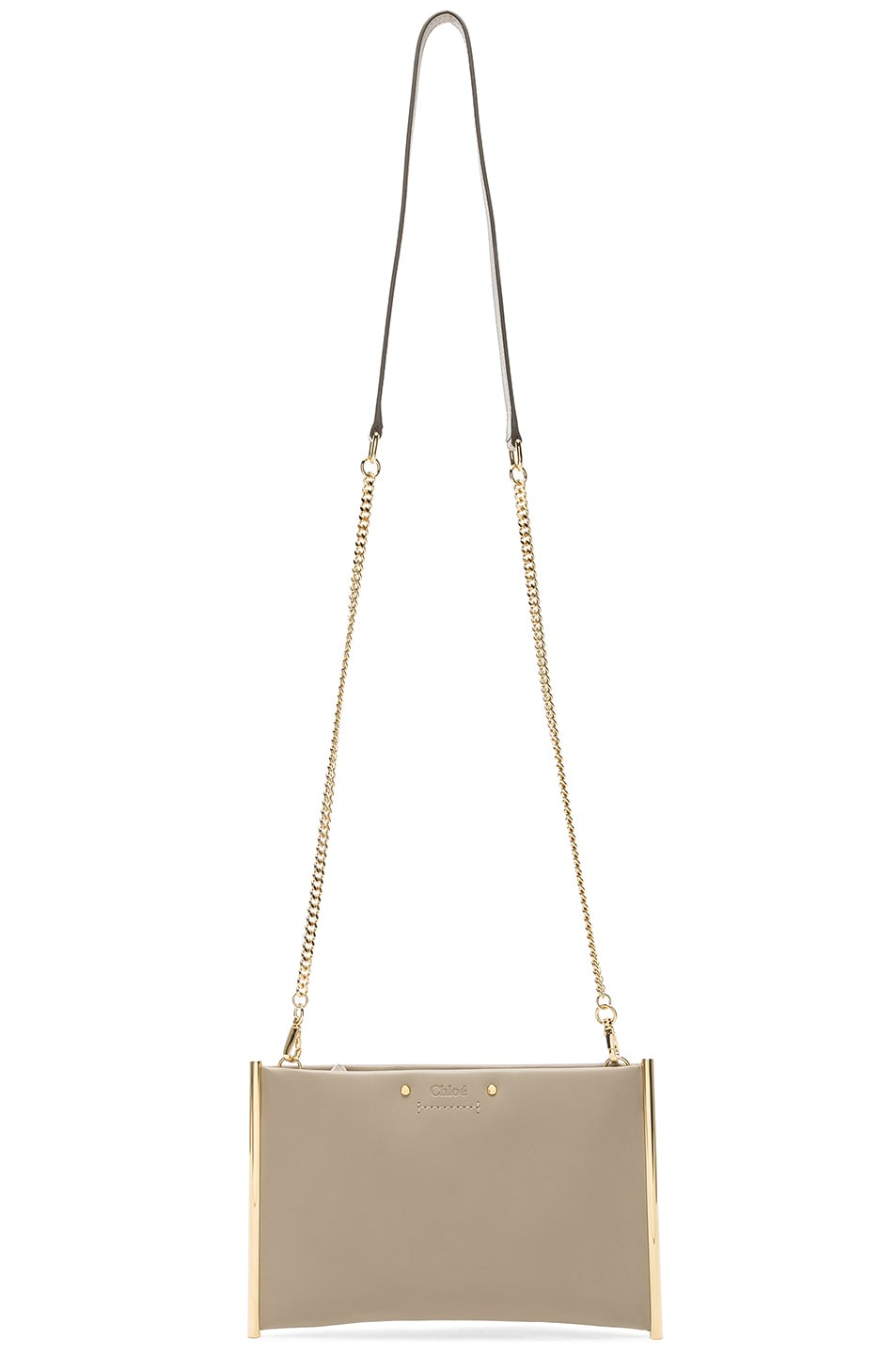 Image 6 of Chloe Roy Smooth Calfskin Clutch in Pastel Grey