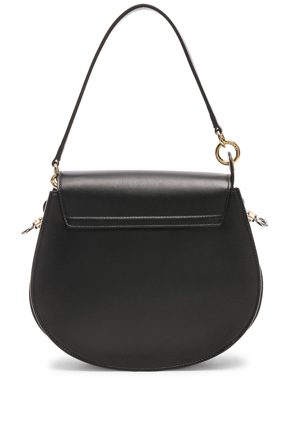 Image 3 of Chloe Medium Tess Shiny Calfskin Shoulder Bag in Black