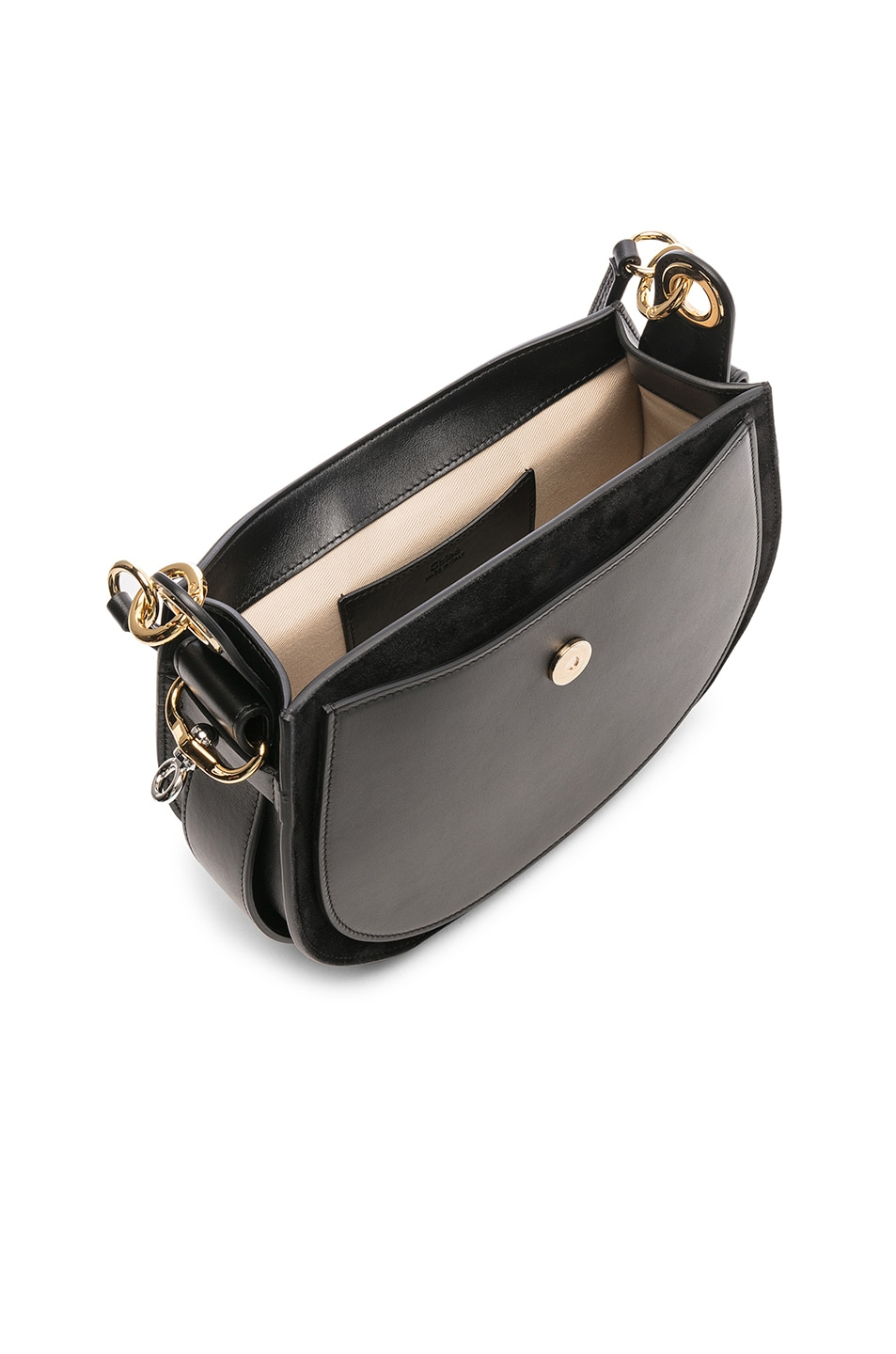 Image 5 of Chloe Medium Tess Shiny Calfskin Shoulder Bag in Black