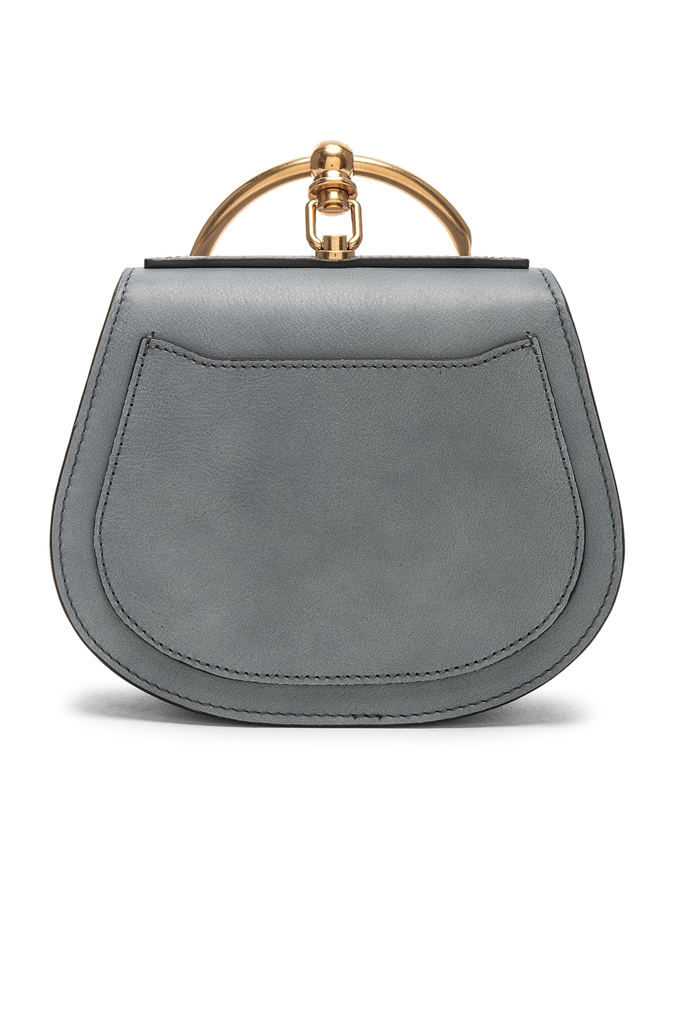 Image 3 of Chloe Small Nile Bracelet Bag Calfskin & Suede in Cloudy Blue